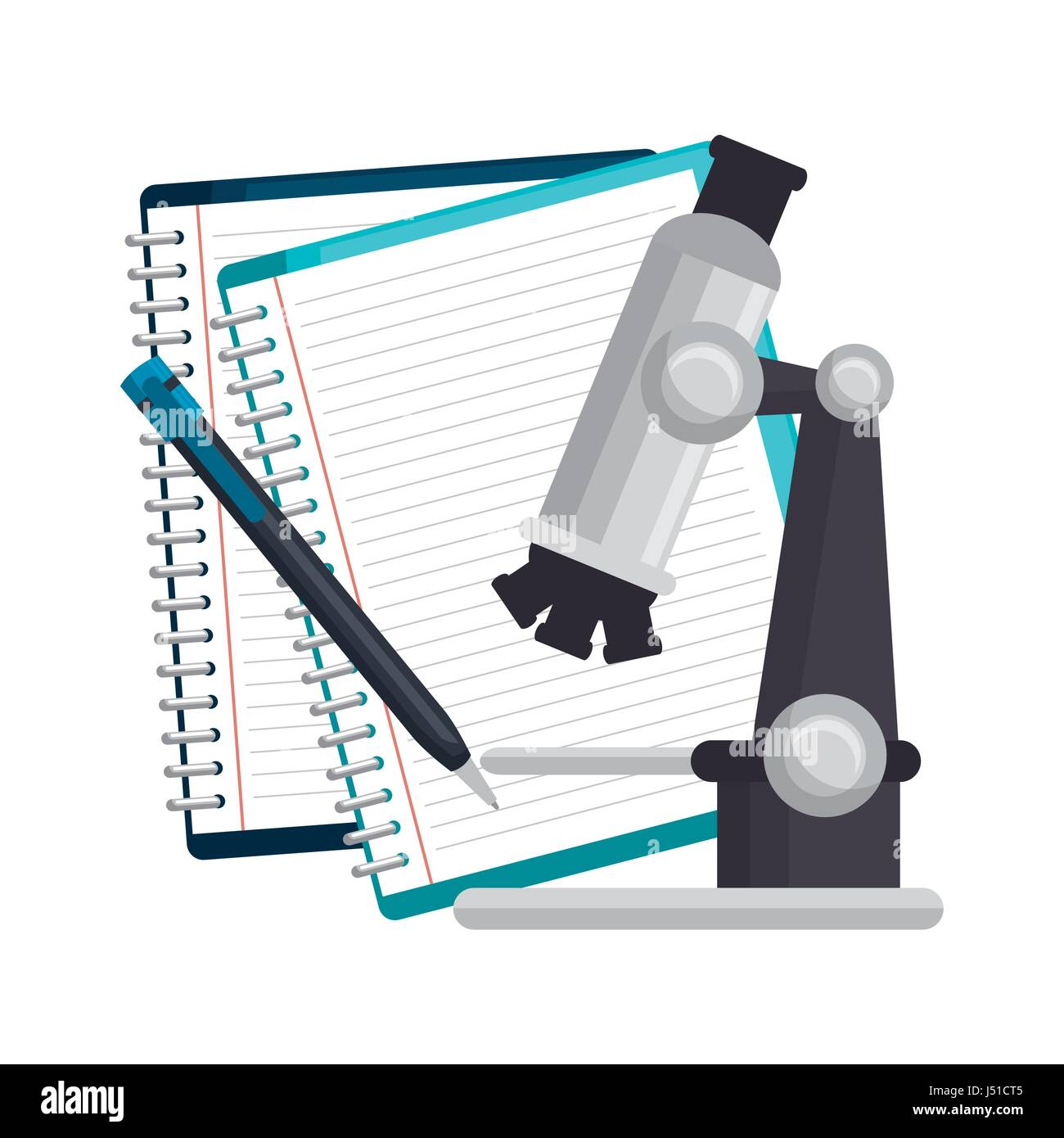 Study books design - Stock Vector