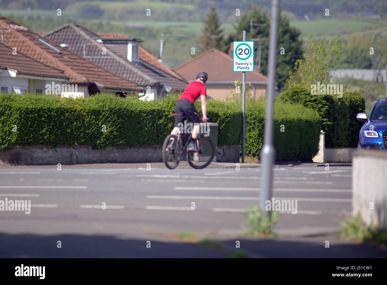 bike bicycle traffic scene accident near miss cycling Stock Photo ...