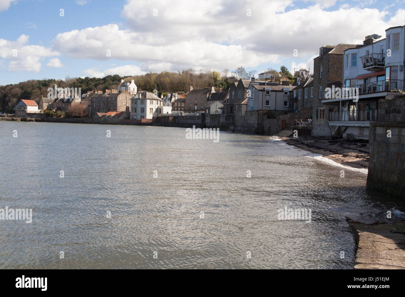 Waterfront at South Queensferry, nr Edinburgh, from the slipway Stock Photo