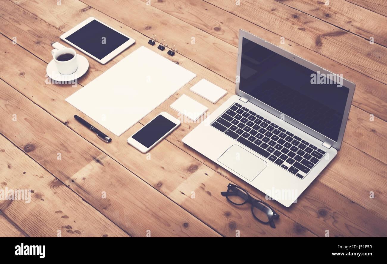 corporate identity template - Stock Image