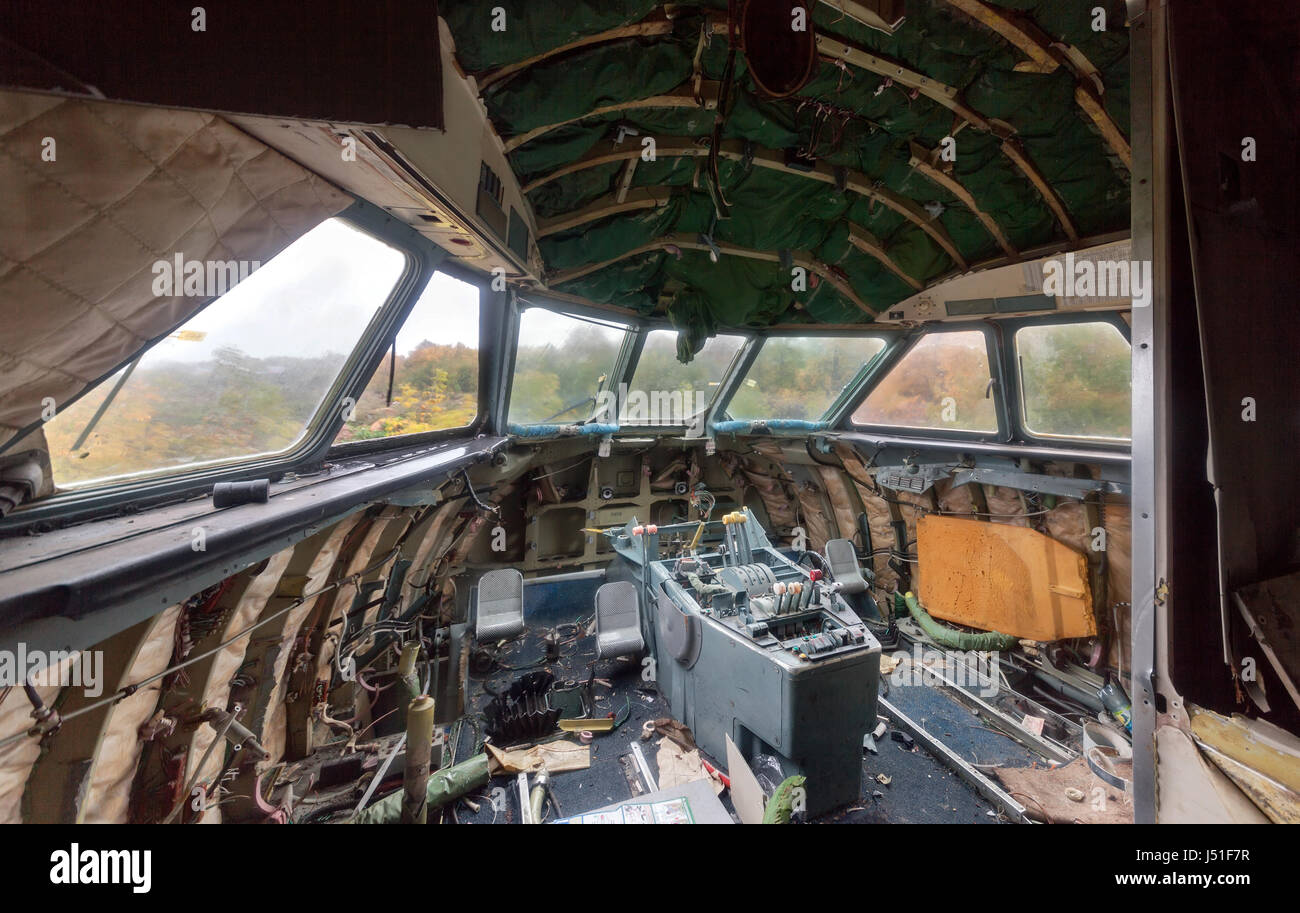 Inside View Cockpit Airplane Aircraft Stock Photos