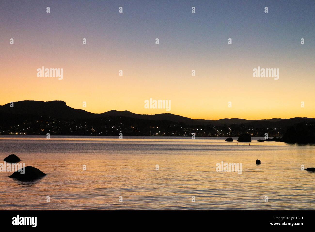 Sunset in Itaguacu - florianopolis - Stock Image