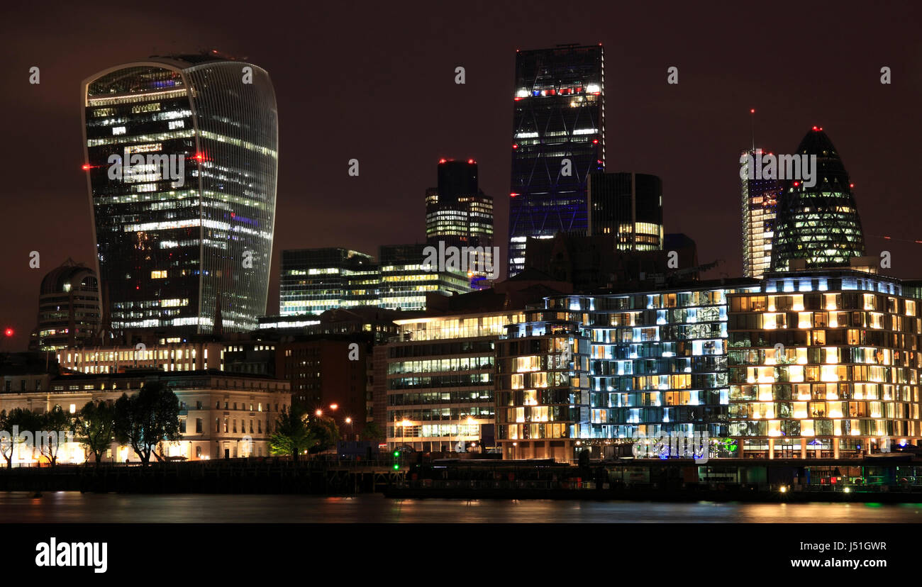 London's ever changing skyline dominated by 20 Fenchurch St, 122 Leadenhall St and 30 St. Mary Axe. Also known - Stock Image