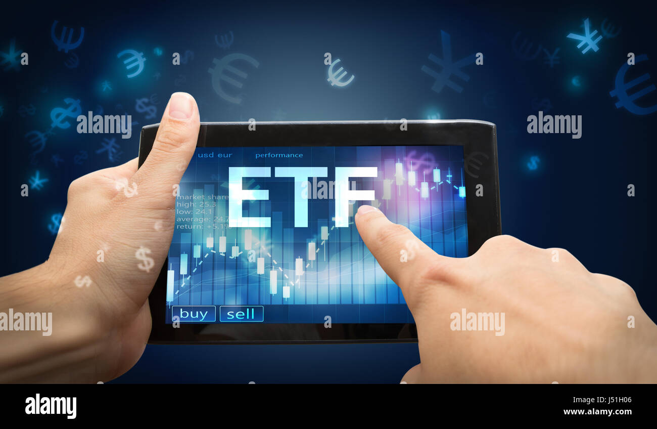 etf investment Stock Photo