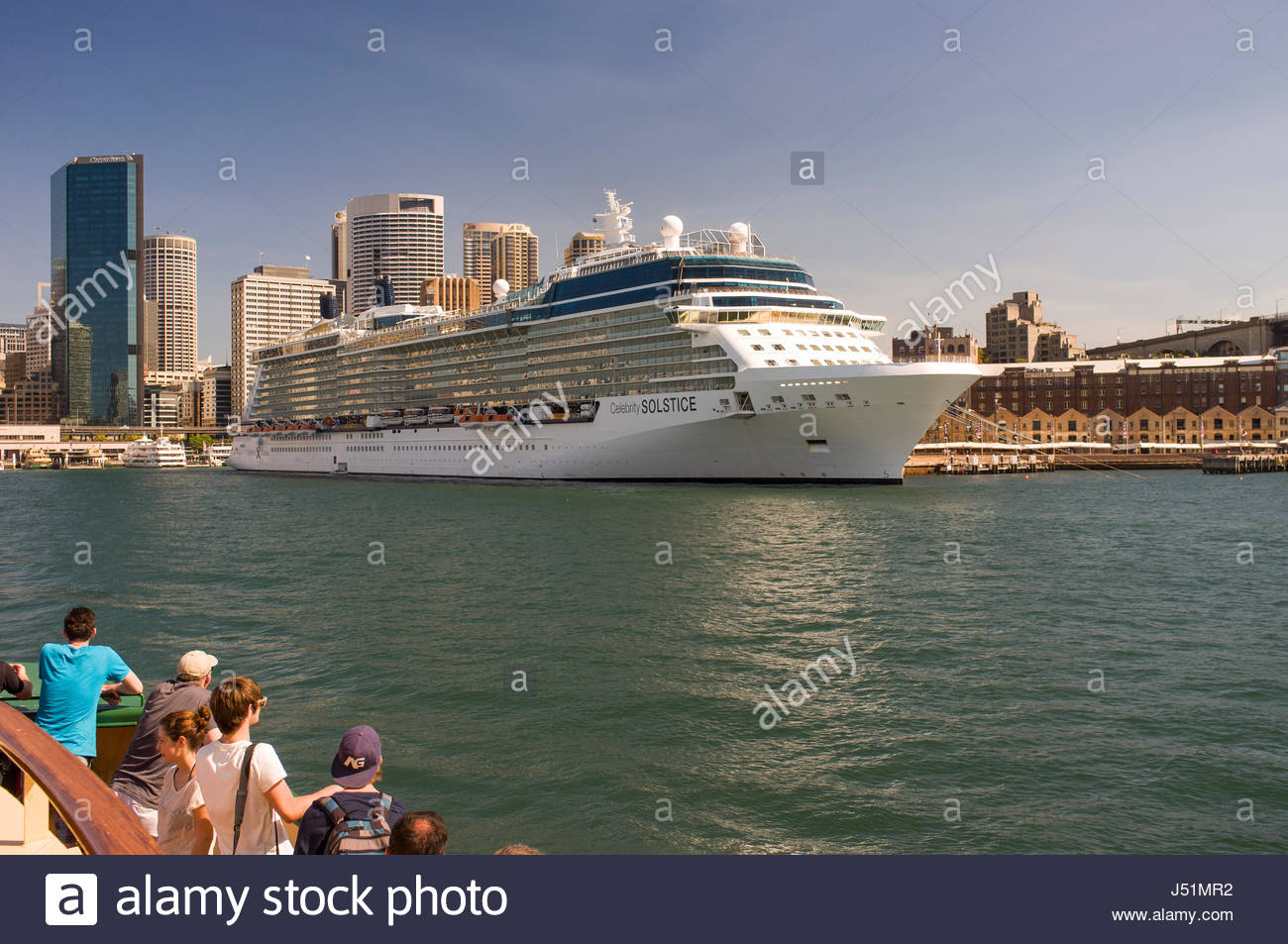 Celebrity Solstice cruise ship docked at the Overseas Passenger Terminal, Circular Quay, Sydney, New South Wales, - Stock Image