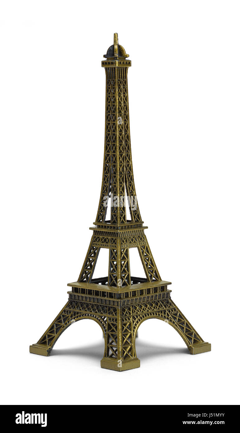 Scale Eiffel Tower Isolated on White Background. - Stock Image