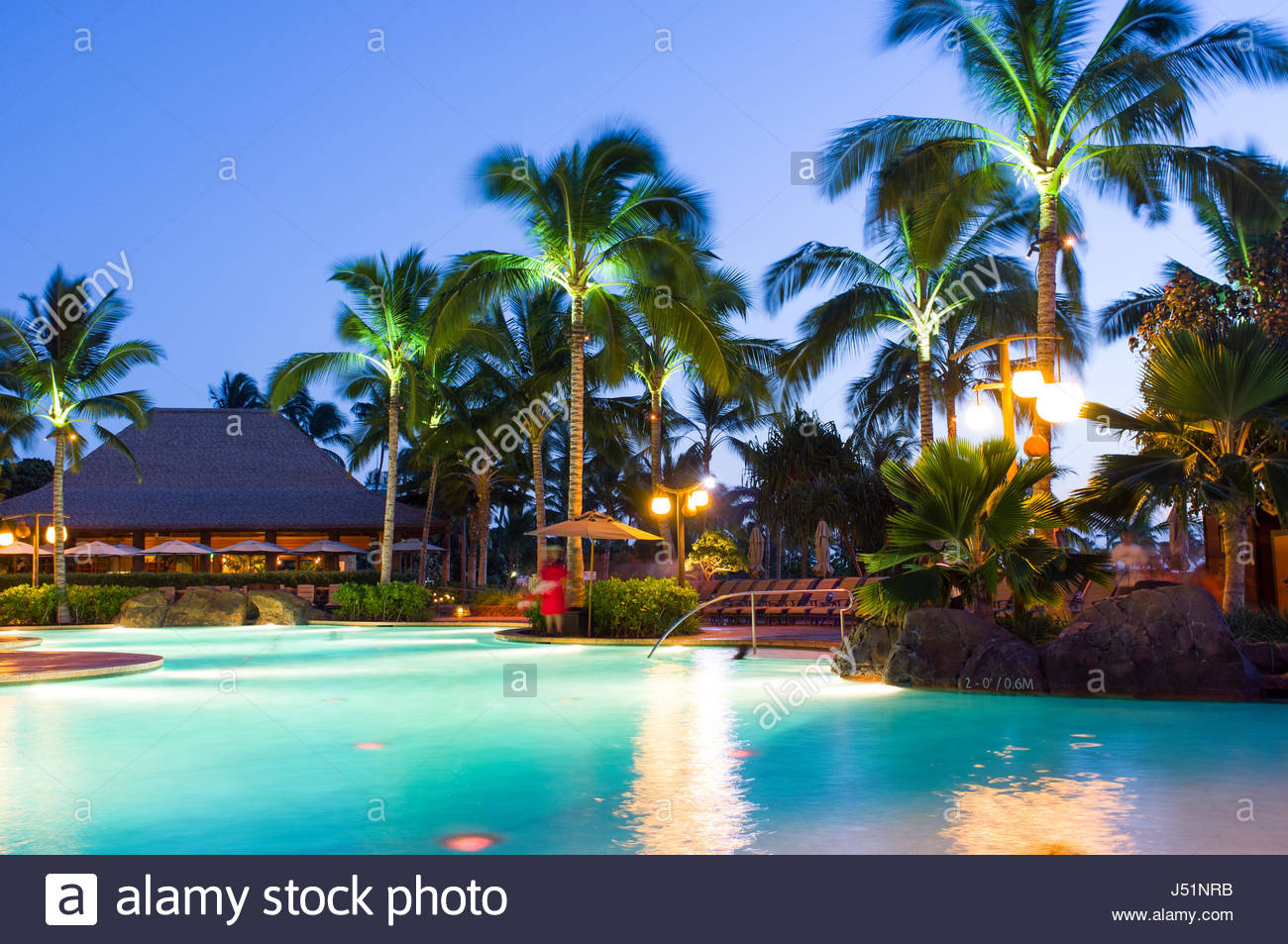 Swimming Pool At Dusk Aulani A Disney Resort Spa 92 1185 Stock Photo 140795295 Alamy