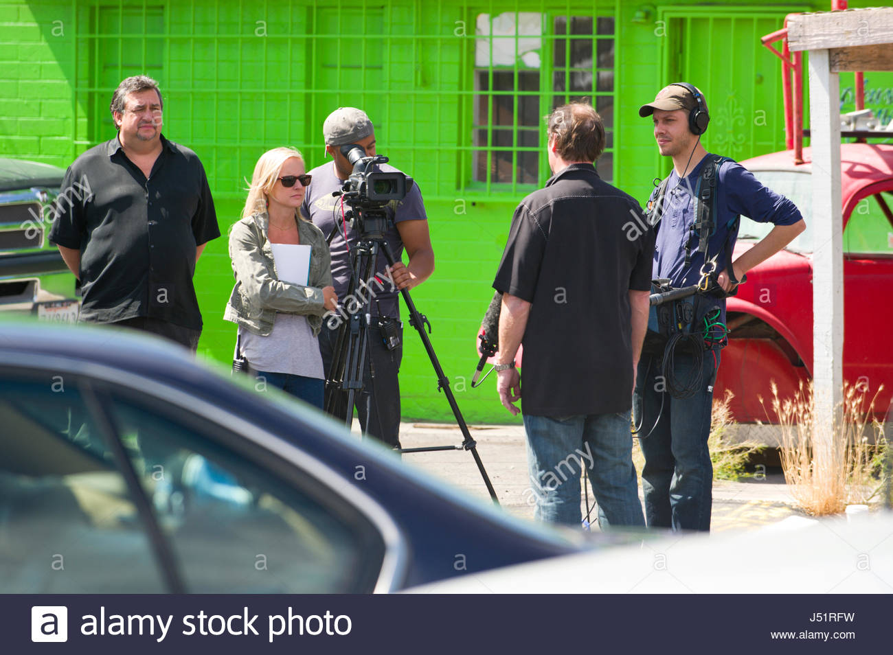 Film Crew Working In Parking Lot Of Gold Silver Pawn Shop Made