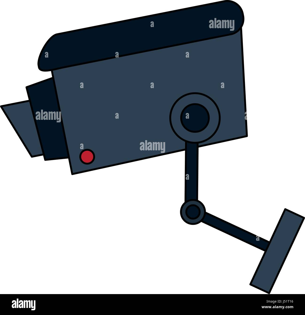 color image infrared surveillance camera icon - Stock Image