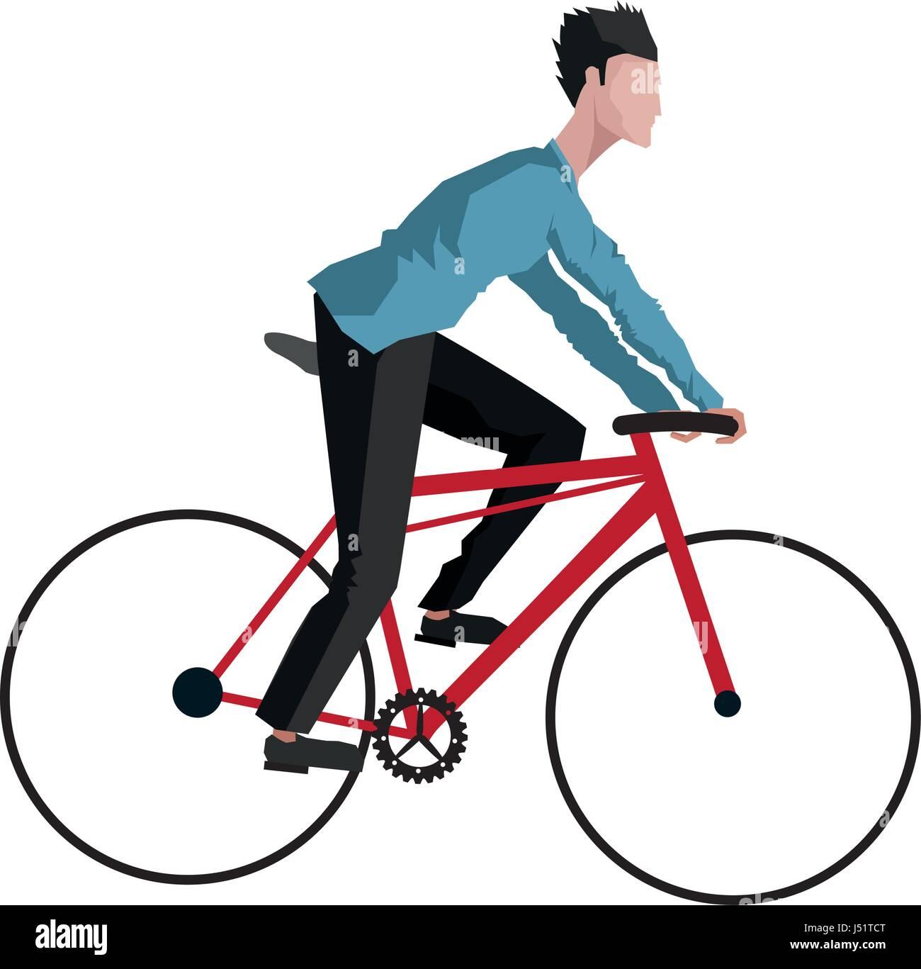 guy rider bike transport - Stock Image