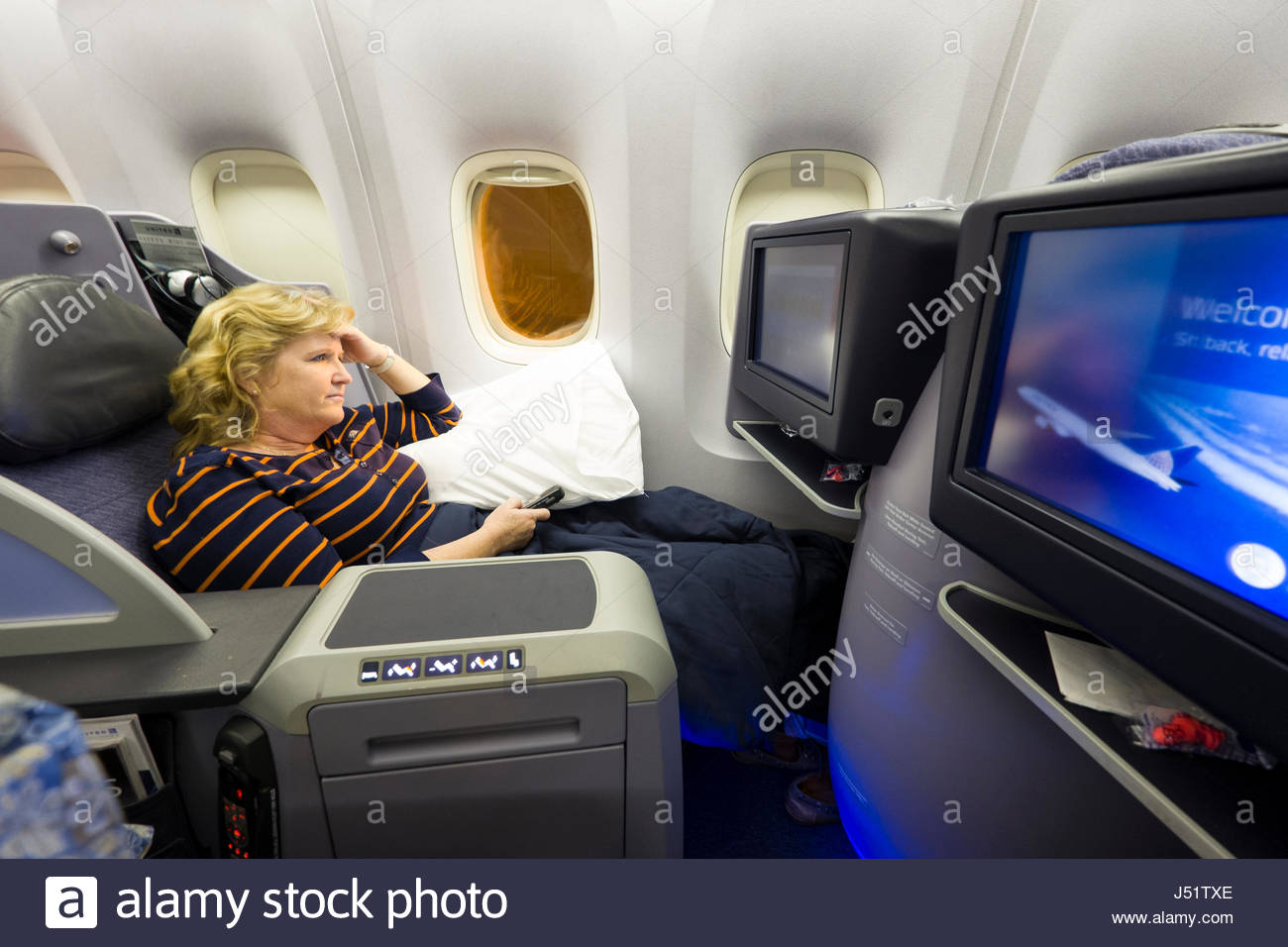 In Flight Entertainment Stock Photos & In Flight Entertainment Stock