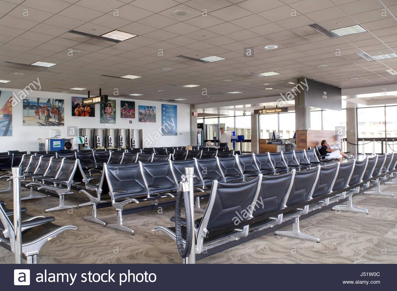 Honolulu International Airport Interisland Terminal, Honolulu, Oahu,  Hawaii, USA. As The Major Aviation Gateway For The State Of Hawaii HNL Is  The Pri