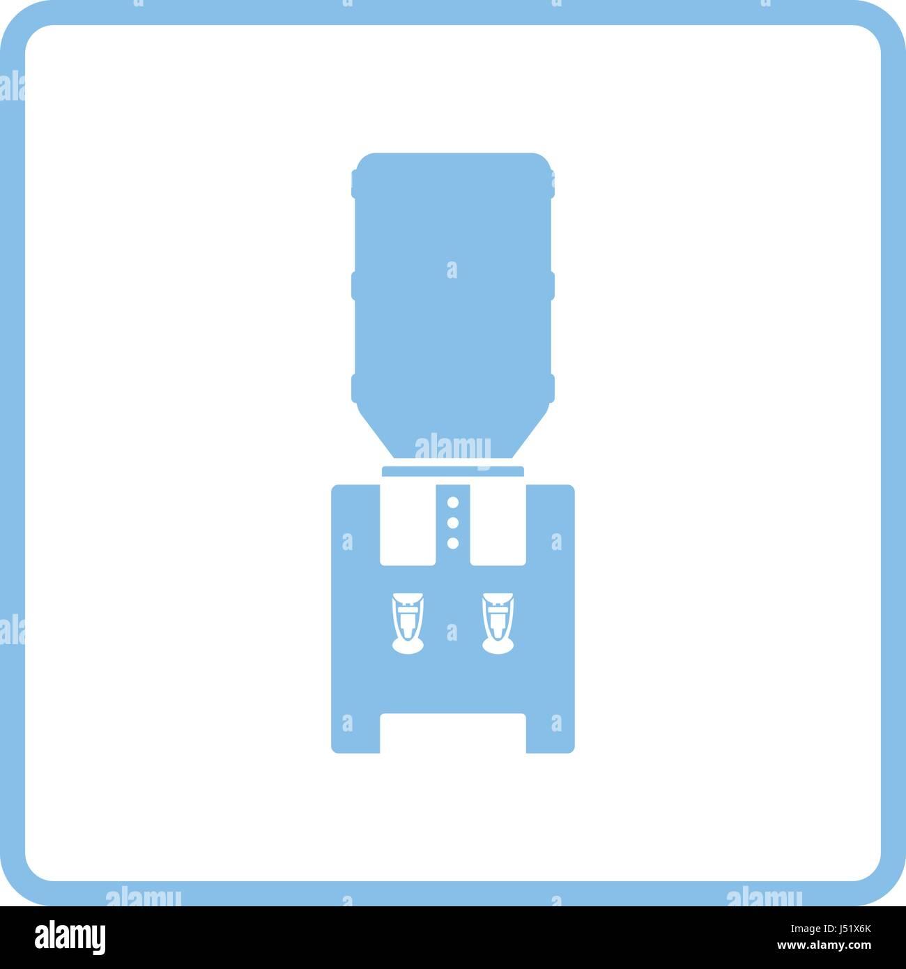 Office water cooler icon. Blue frame design. Vector illustration ...