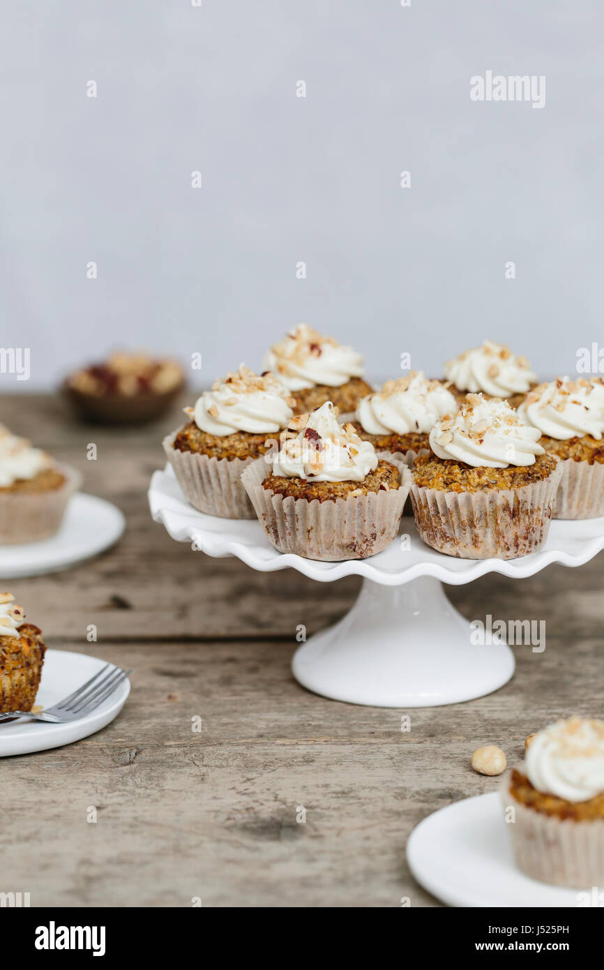carrot cup cakes - Stock Image