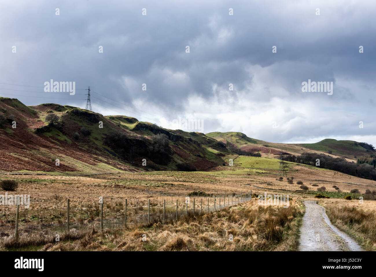 West Highland Way Scotland`s oldest long distance route - Stock Image
