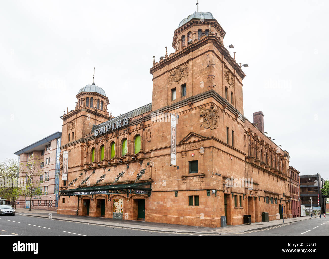 The Middlesbrough Empire was built in 1897 as a music hall, it is now a three story night club and music venue - Stock Image