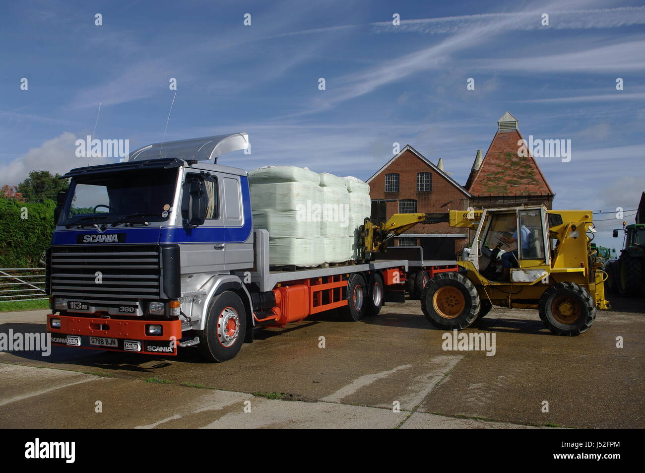 Scania 113M truck and trailer - Stock Image