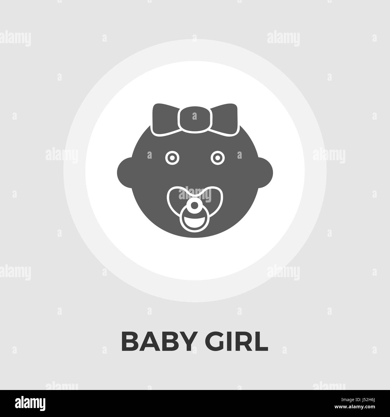 Baby girl Icon Vector. Flat icon isolated on the white background. Editable EPS file. Vector illustration. - Stock Vector