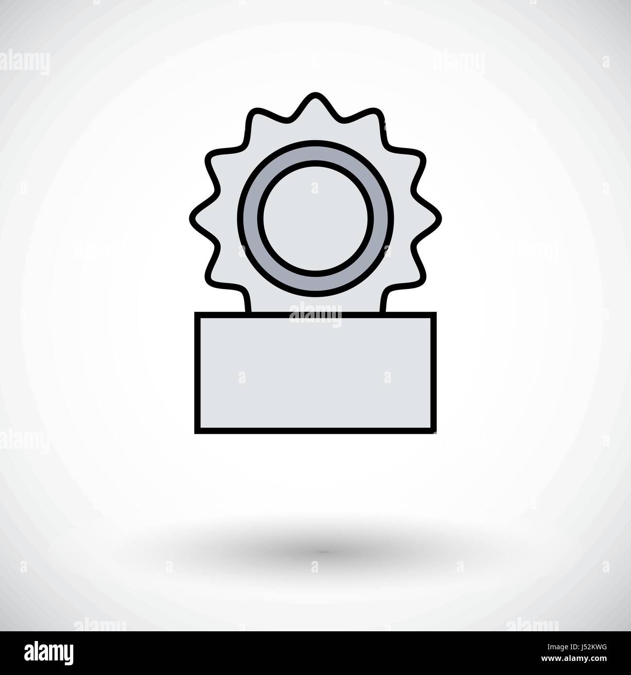 Canned. Flat icon on the white background for web and mobile applications. Vector illustration. - Stock Vector