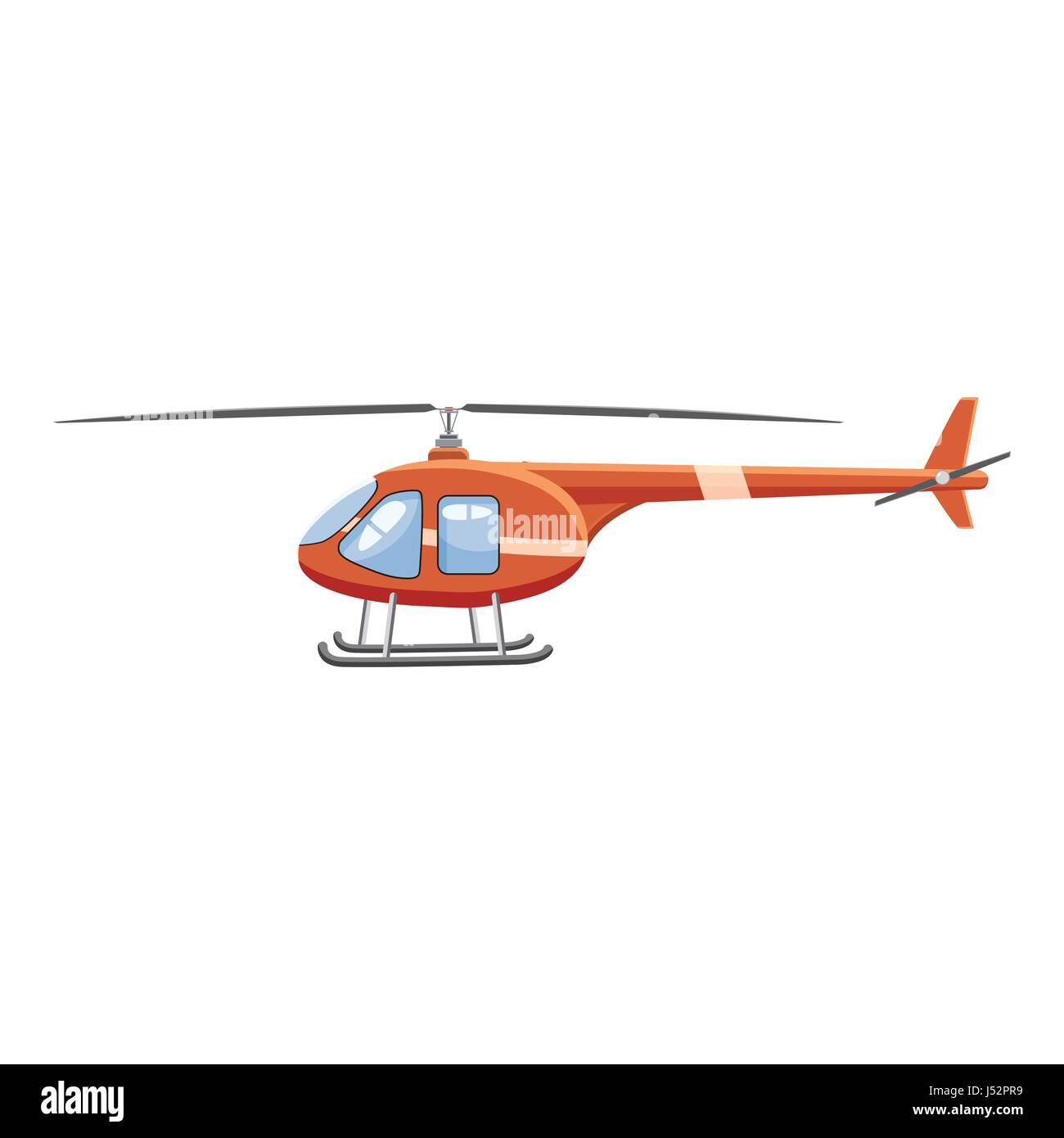 Helicopter icon, cartoon style - Stock Vector