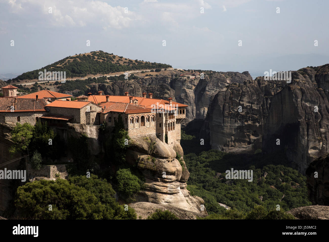The Monastery of Varlaam, Meteora, Kalabaka, Greece on July 15, 2016. - Stock Image