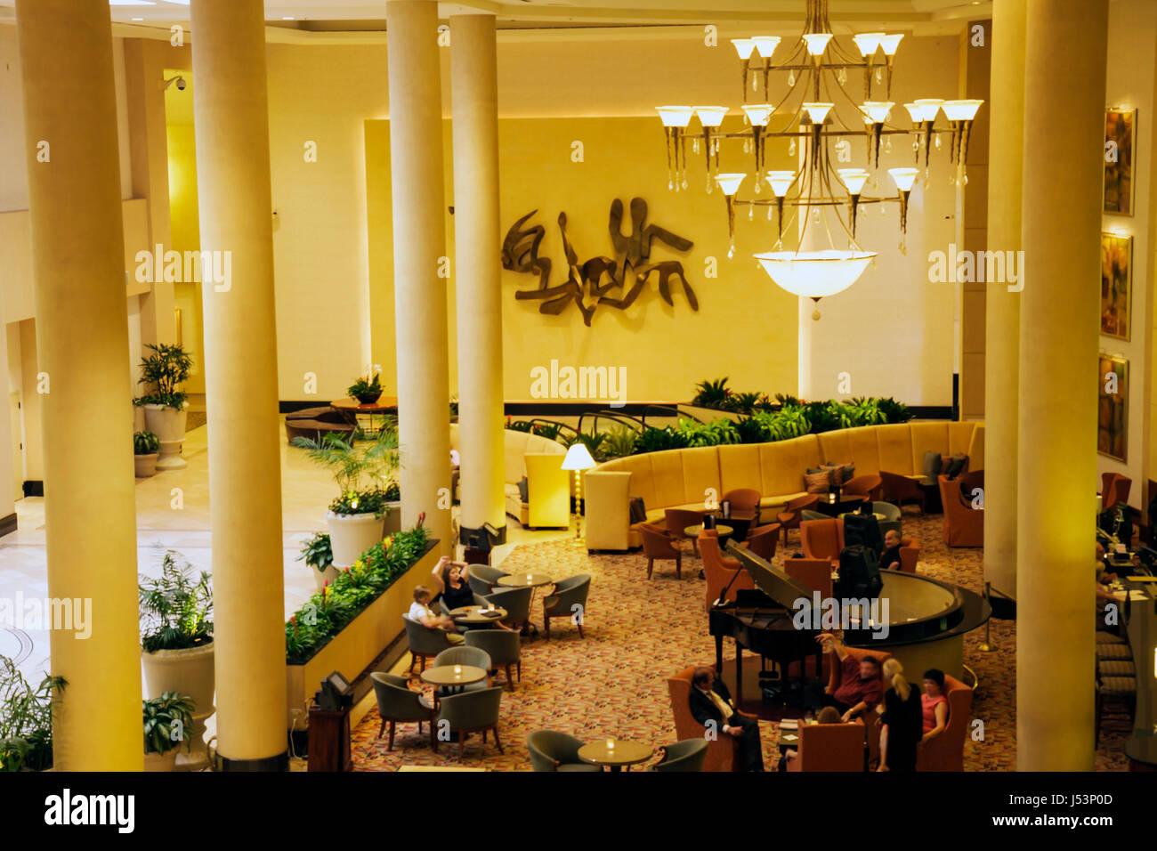 Little Rock Arkansas The Peabody Little Rock hotel lobby lounge ...