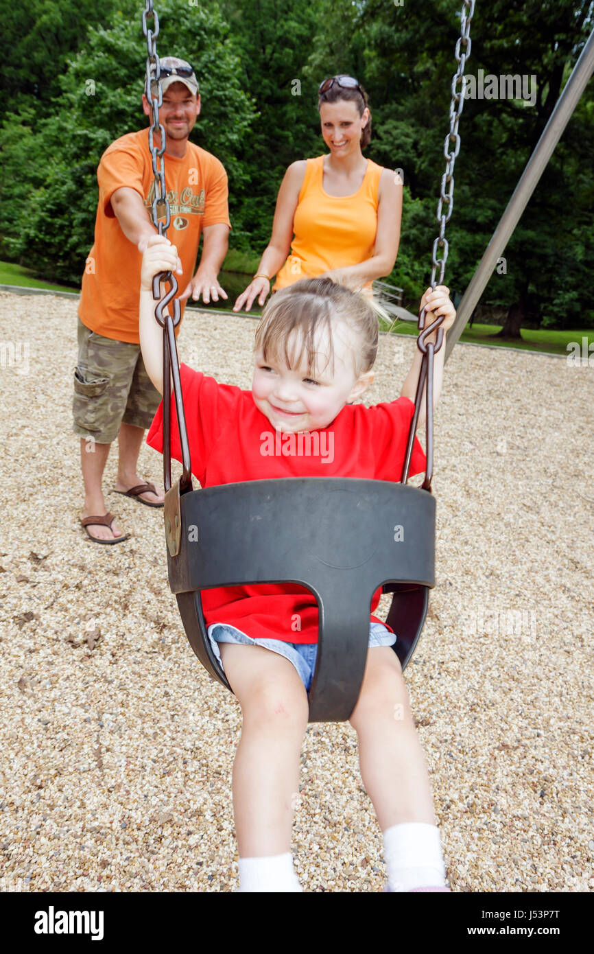 Arkansas, AR, South, Natural State, Randolph County, Pocahontas, Old Davidsonville historic State Park, playground, Stock Photo
