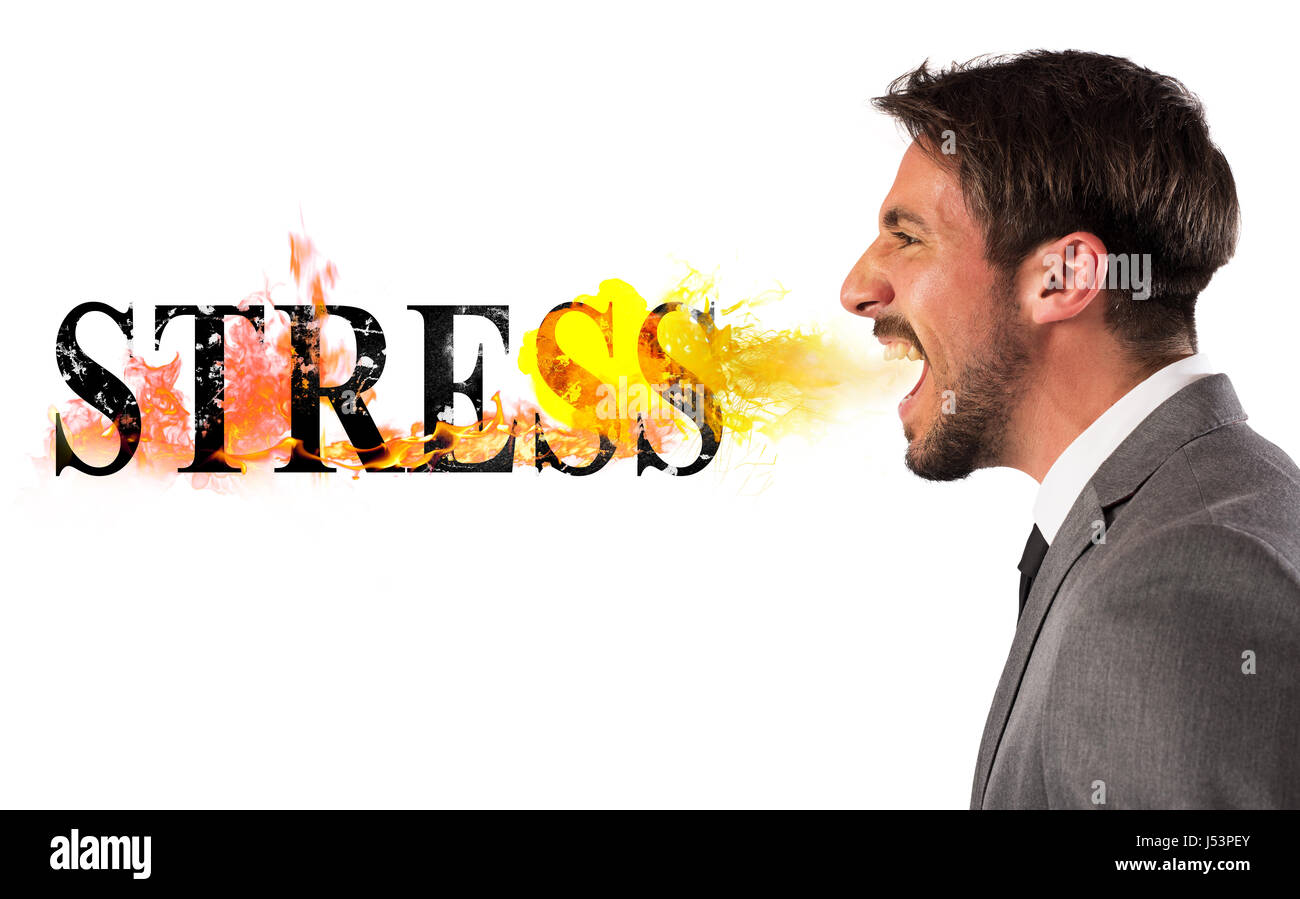 Stressed business life - Stock Image