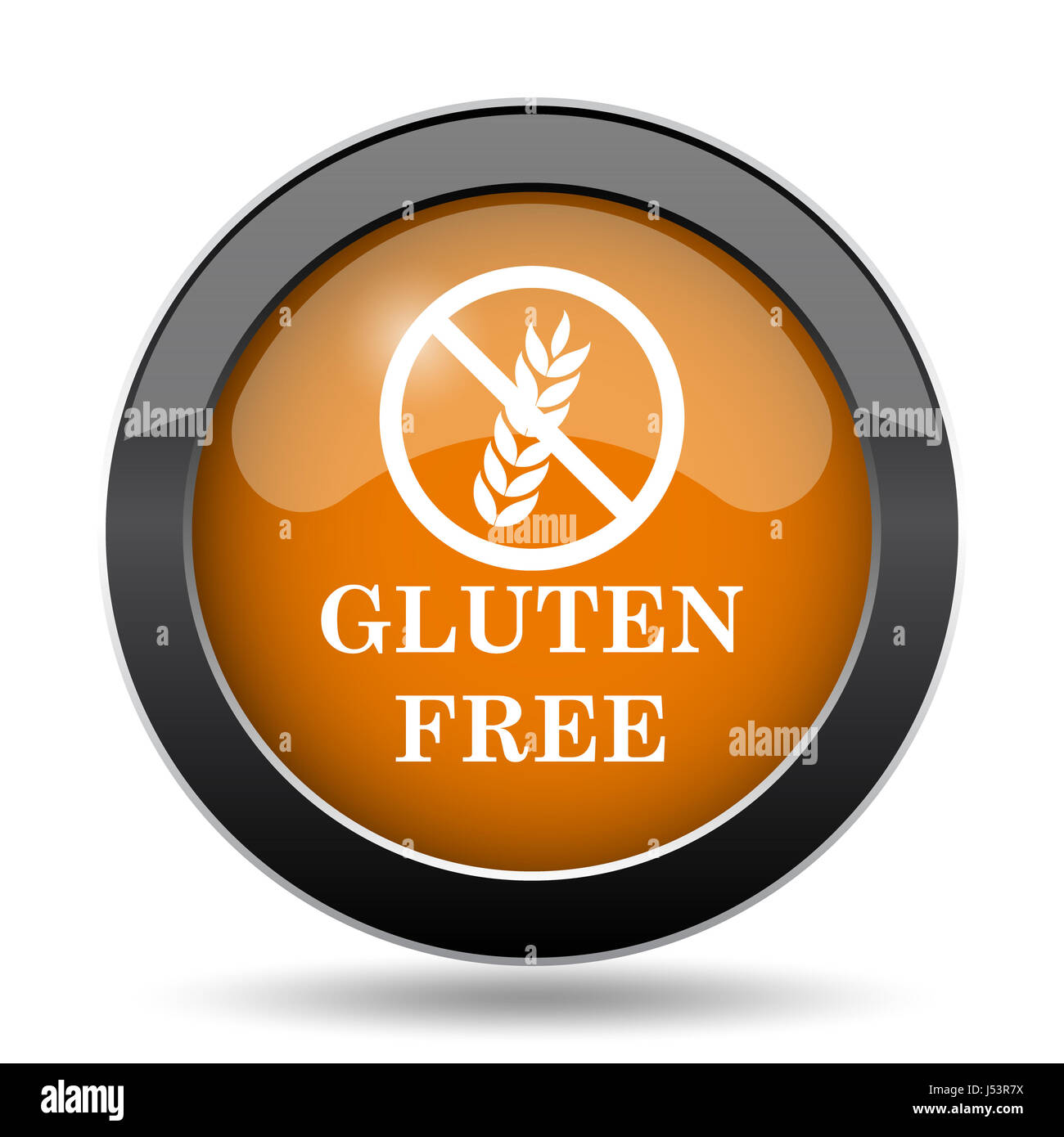 Gluten free icon  Gluten free website button on white