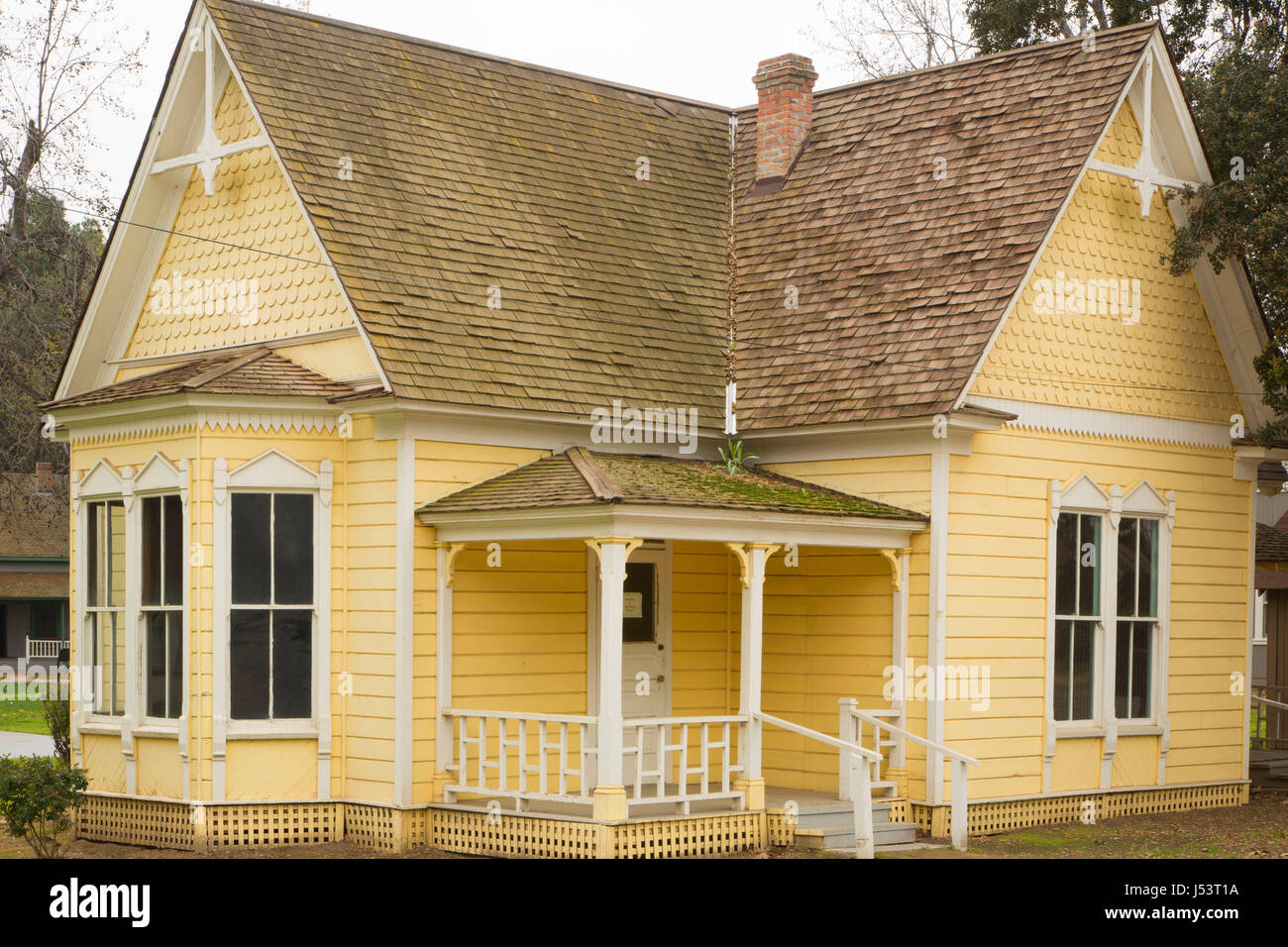 Metcalf House, Kern Pioneer Village, Bakersfield, California - Stock Image