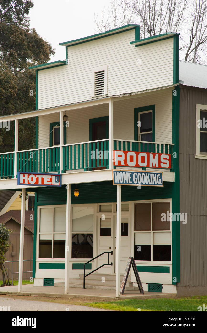 Fellows Hotel, Kern Pioneer Village, Bakersfield, California - Stock Image
