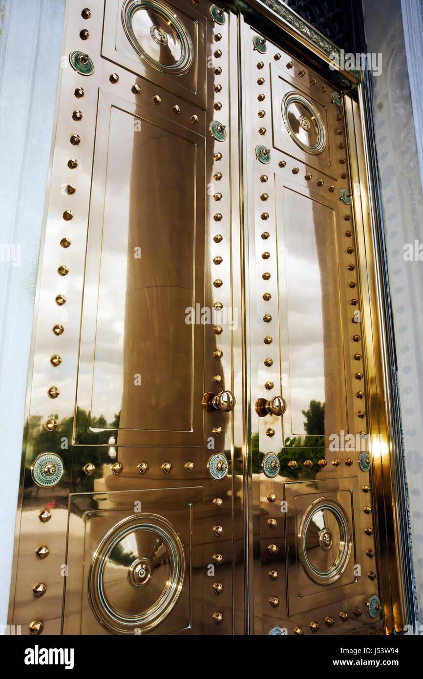 Little Rock Arkansas State Capitol Building Tiffany bronze door shiny metal rivets design craftmanship grandeur built 1915 neo c & Little Rock Arkansas State Capitol Building Tiffany bronze door ...