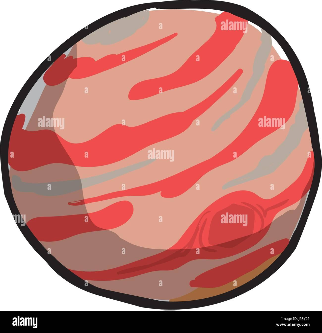 jupiter planet cartoon - Stock Image
