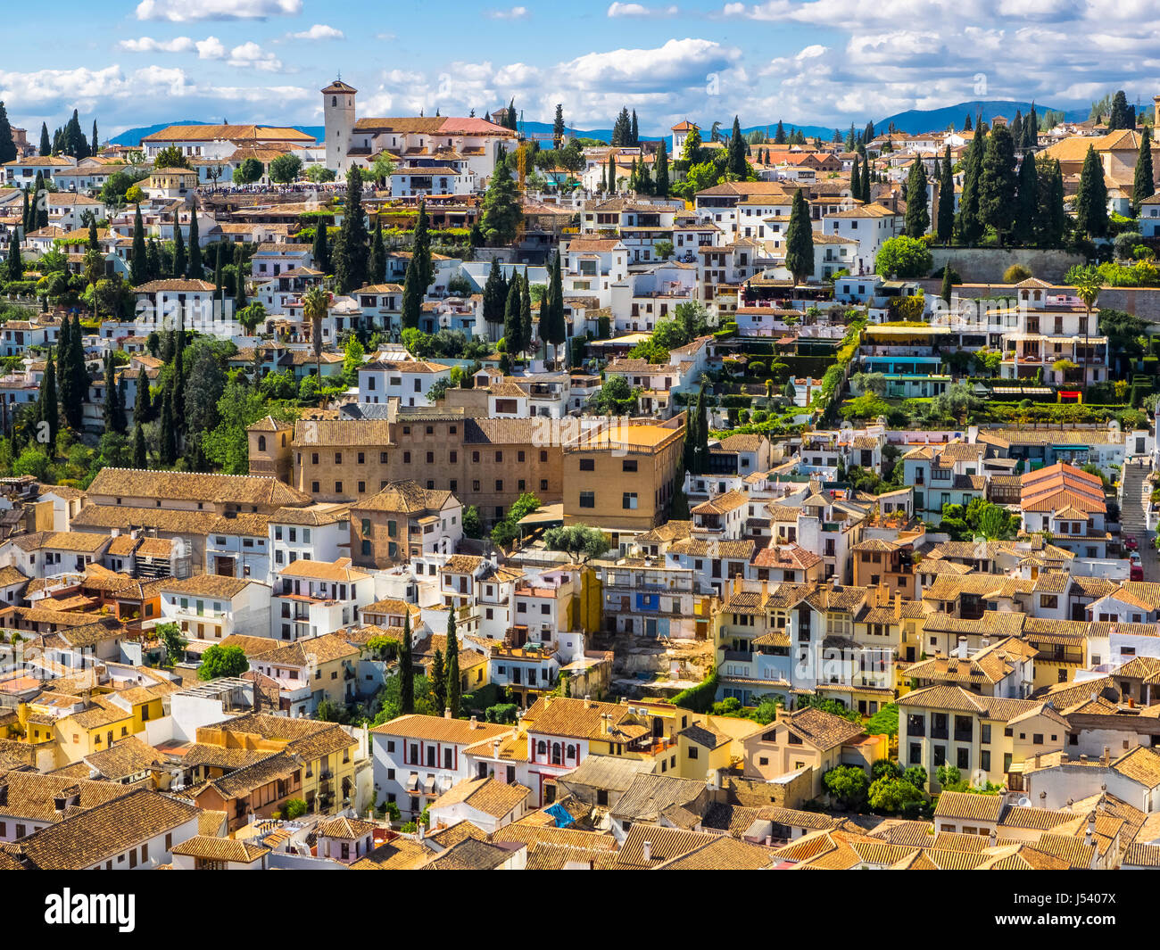 The town of Sacromonte - Stock Image