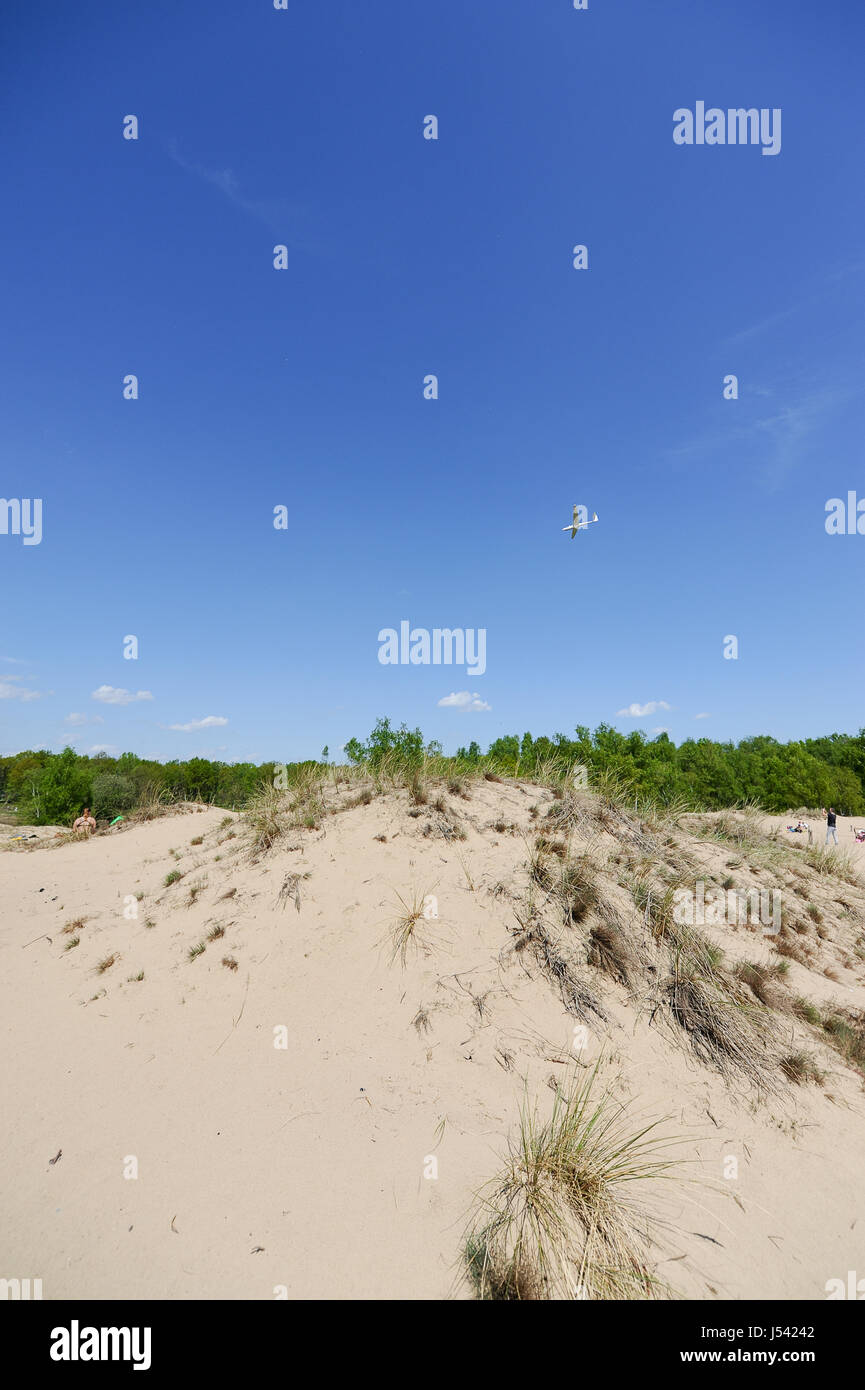 Landscape of the Boberger Dunes, or Boberger Duenen, in south west of Hamburg, Germany. - Stock Image