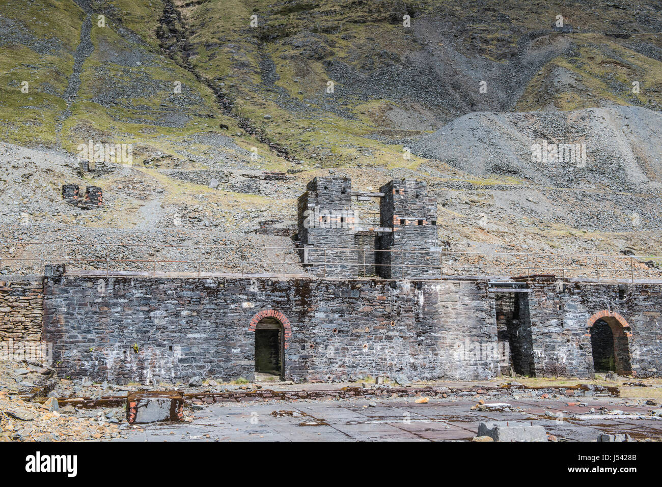 Old Lead Workings Cwmystwyth Cardiganshire Mid Wales - Stock Image