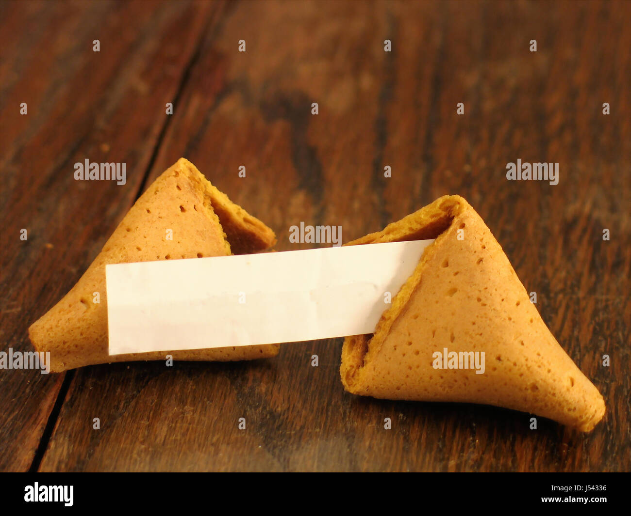 Fortune Cookie With No Text On Wood Stock Photo Alamy