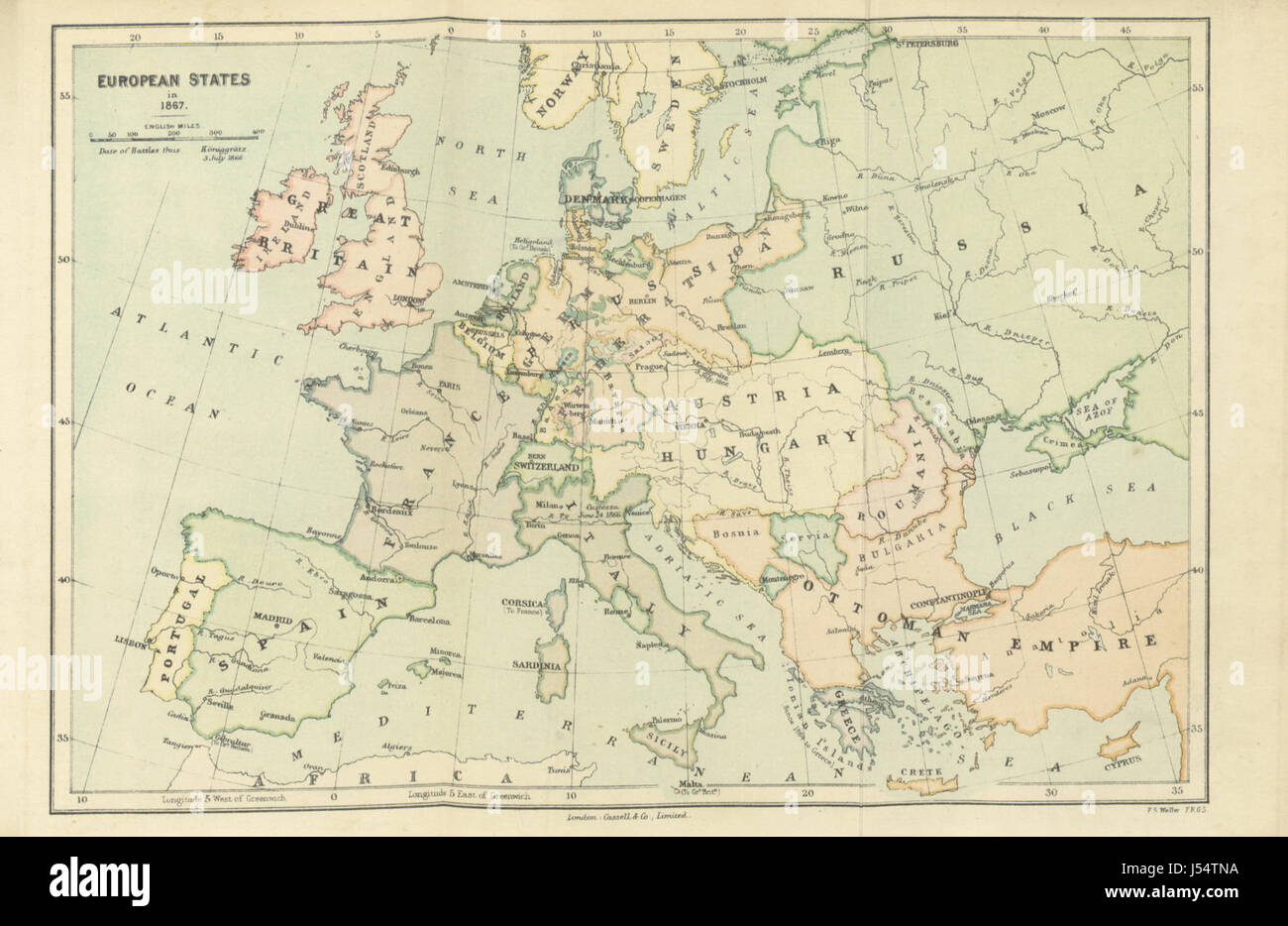 A History of Modern Europe ... With maps Stock Photo: 140863446 - Alamy