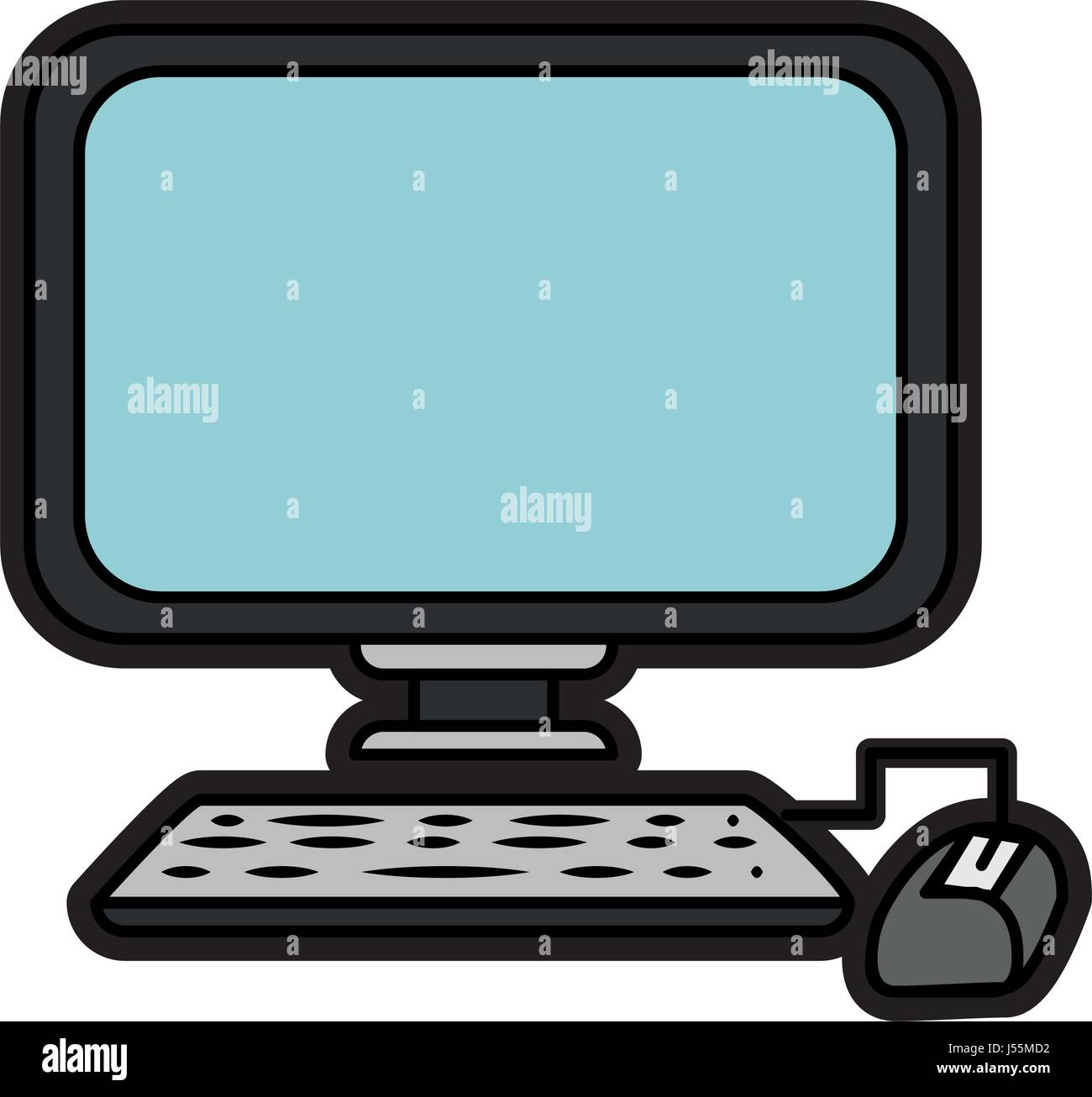 computer device icon - Stock Image