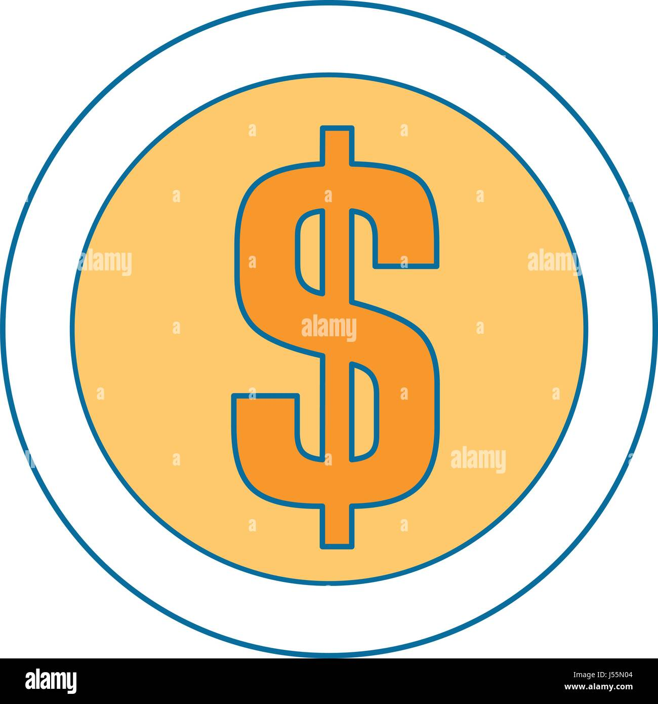 money coin icon - Stock Image