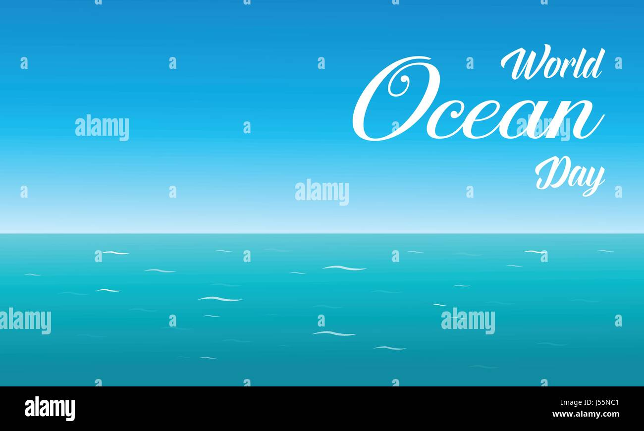 World ocean day background collection - Stock Image