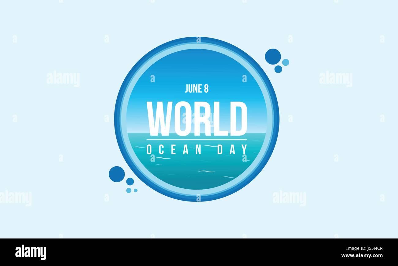 Banner style for world ocean day - Stock Vector