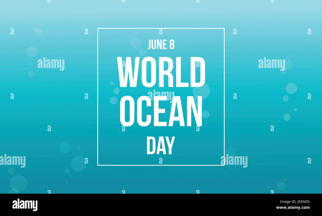 World ocean day celebration collection - Stock Vector