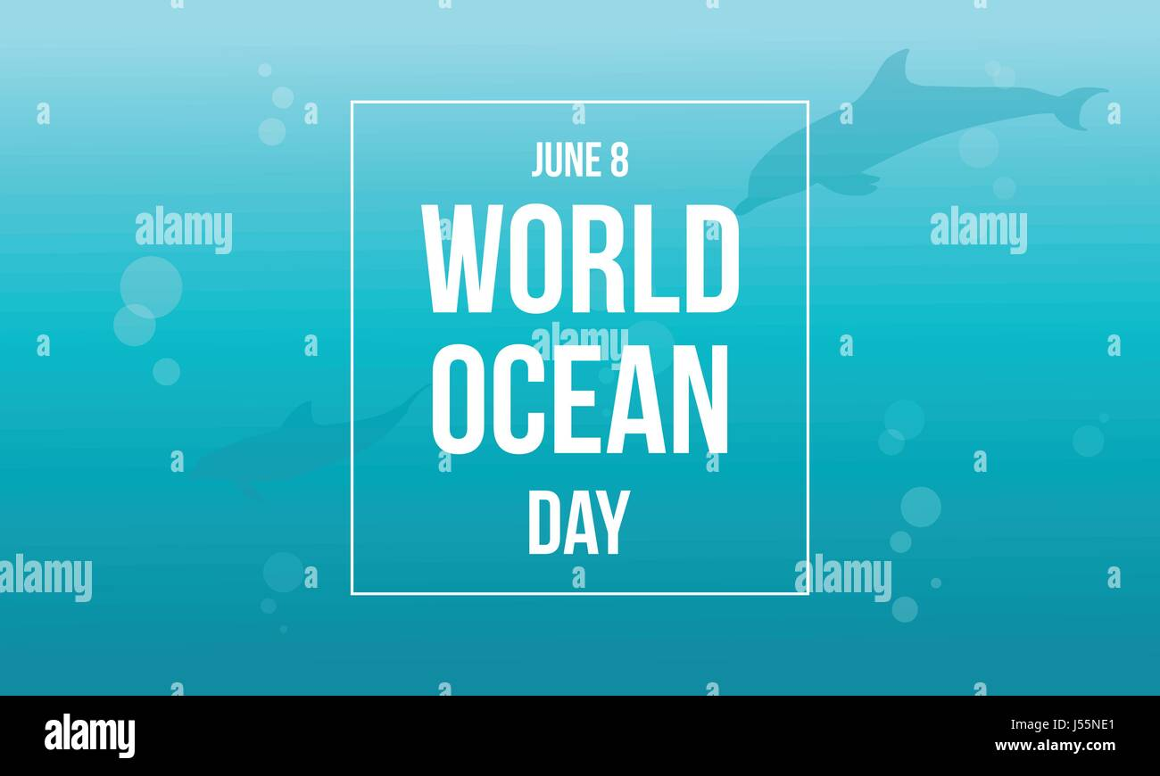 World ocean day background style - Stock Vector