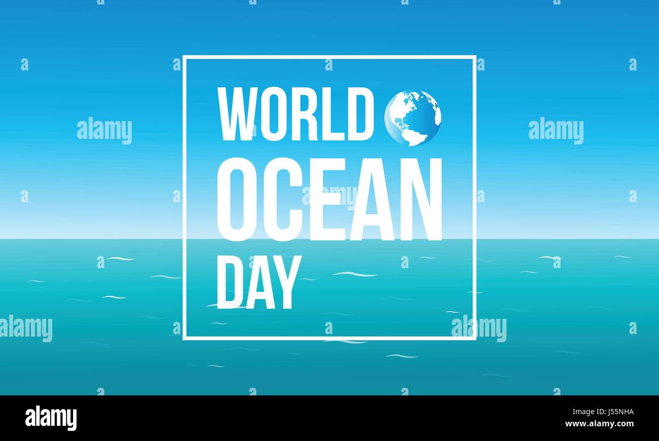 Background world ocean day - Stock Image