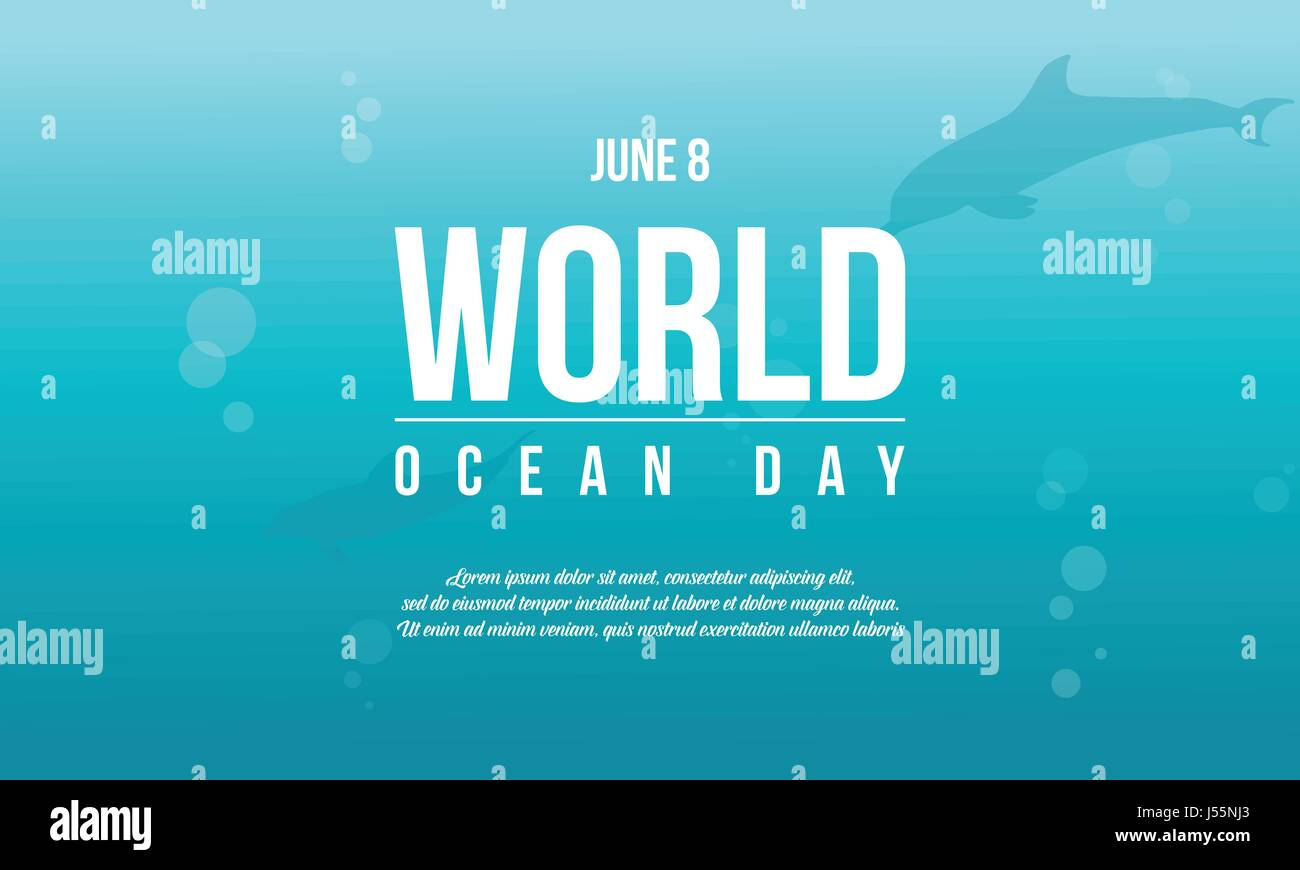 World ocean day style background - Stock Vector