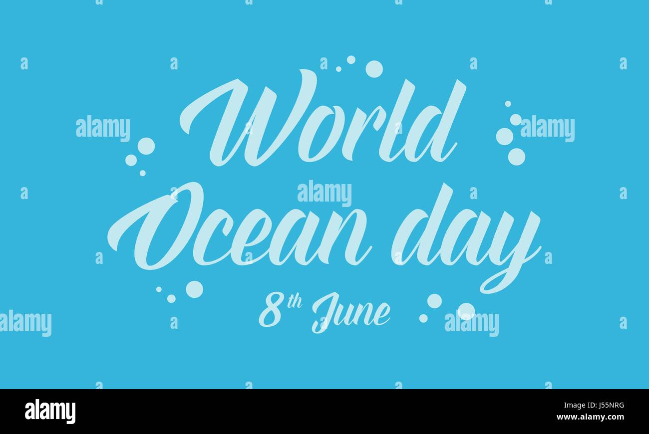 World ocean day blue background - Stock Vector