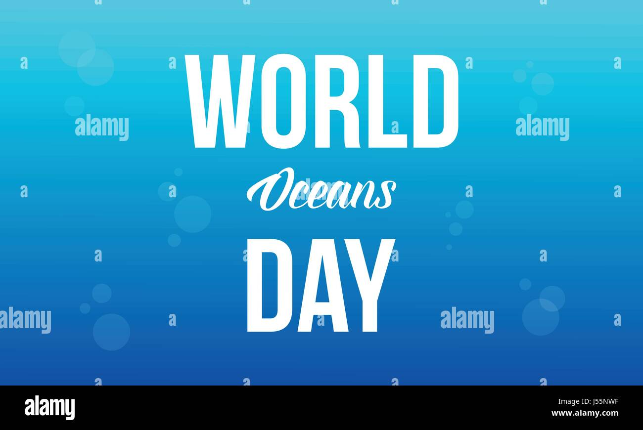 Background world ocean day style - Stock Vector