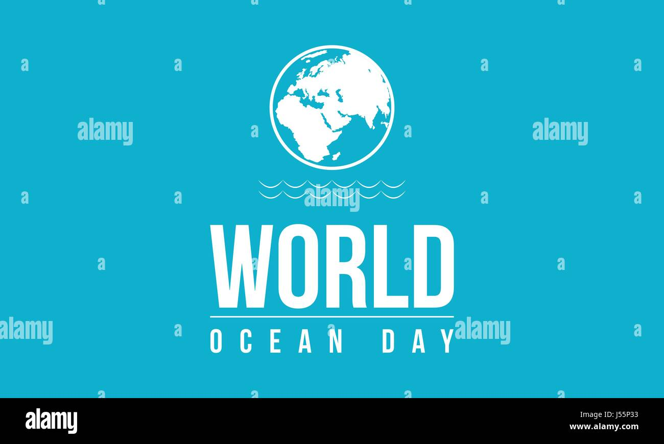 Background of ocean day vector illustration - Stock Vector
