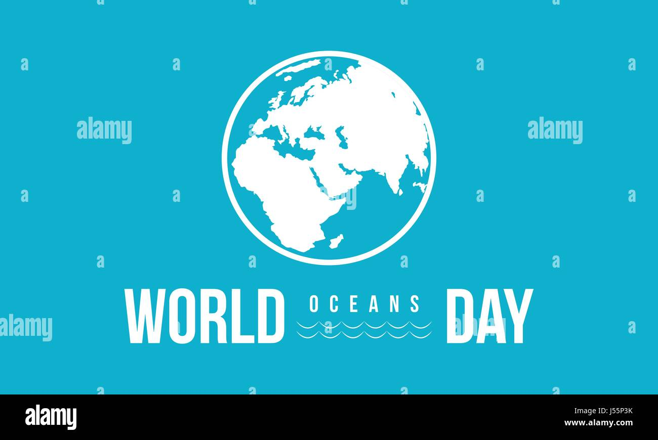 Celebration world ocean day background - Stock Vector